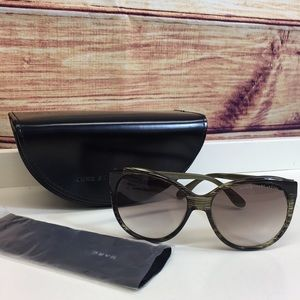 Marc by Marc Jacobs Large Olive Stripe Sunglasses
